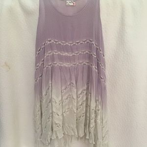 Free People trapeze Ombre Slip